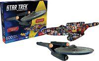 Star Trek Entreprise Double Face en Forme De 600 Pièce Puzzle 820mm x 290mm