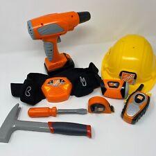 Kids Pretend Home Depot Tools Construction Helmet Tool Belt Walkie Talkie & More