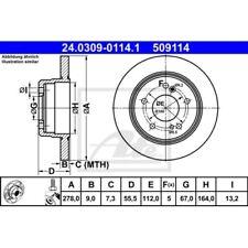 SATZ 2x ATE Power Disc MERCEDES-BENZ C-CLASS (W202)  MERCEDES-BENZ C-CLASS (W20