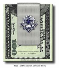 DALLAS COWBOYS STAINLESS STEEL MONEY CLIP - FOOTBALL SPORTS GIFT - FREE SHIP #A'