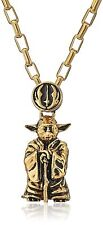 "NEW Licensed Han Cholo Star Wars Gold Colored Yoda Pendant Necklace w/ 24"" Chain"