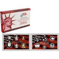 2004 US MINT SILVER PROOF SET - BOX, COA 10 COINS