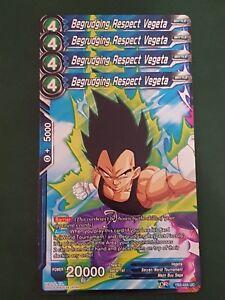 4x Begrudging Respect Vegeta - Dragon Ball Super Card Game