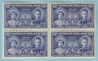 NEWFOUNDLAND 249 BLOCK OF 4 MINT NEVER HINGED OG ** NO FAULTS EXTRA FINE! - X844