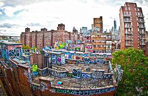 city graffiti wall print canvas art painting australia cityscape A0 Street