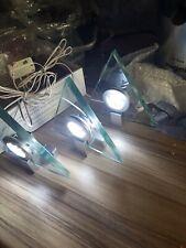 KITCHEN UNDER CABINET GLASS LED TRAINGL HALO LIGHT WHITE COOL  LIGHT KITS