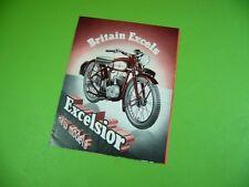 406KA2 Prospekt, brochure (um 1949): Britain Excels Excelsior new models