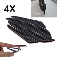 4Pcs Protector Protection Strip Trim Molding Carbon Fiber Car Door Edge Guard
