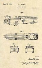 Official Fire Truck US Patent Art Print- Vintage Fire Fighting Fireman FDNY 299