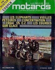 La Revue des MOTARDS  2 CZ 175 TT MOTOBECANE 175 MB1 MONEY GOYON ELEPHANTS 1971