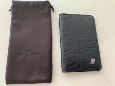 Audemars Piguet AP Leather Crocodile Wallet Bill Card Holder Black RARE