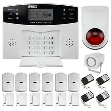 Wireless GSM Alarm Burglar Alarms Home Best Security System Autodial DIY Install