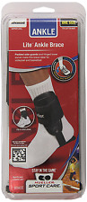 Mueller Sports Lite Active Hinged Ankle Brace Volleyball Basketball White Black