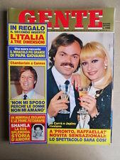 GENTE n°22 1984 Raffaella Carrà Richard Chamberlain + Fascicolo 3D Siena F [D34]