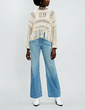 Free People NWT Size XL Higher Love Cream Pullover Sweater NEW
