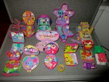Polly Pockets-Blue Bird-12 Compacts/Houses Playsets-62 Figures-Huge Lot PP1