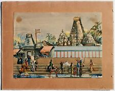 Orientalist Painting Wash Day Mylapore Temple India Impressionist Artist Arone