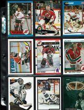 HUGE LOT of 60 NHL Hockey Goalie Cards Sean Burke NO DUPES + Inserts