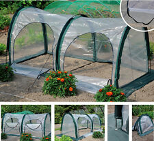 Greenhouse Green House Tunnel  Plant House Shed Storage 2 Doors PE Cover 2x1x1m