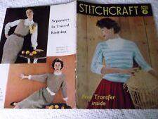 ORIGINAL, VINTAGE, STITCHCRAFT MAGAZINE,  APRIL 1955 sorry no free transfer