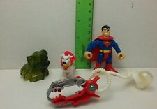 Superman Figure & Krypto Imaginext DC Super Friends Fisher Price Mattel 2008