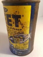 Vintage Heet Anti Freeze Cone Top Can Gas Oil Advertising auto car