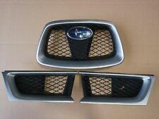 Subaru Impreza Hawkeye Grille Grill WRX STI silver 3 piece set OEM 2006-2007