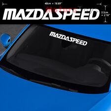 (1) High Quality JDM MazdaSpeed Windshield Vinyl Car Sticker Decal For Mazda
