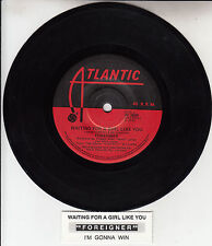 "FOREIGNER  Waiting For A Girl Like You  7"" 45 rpm record + juke box title strip"