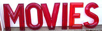 """Huge 24""""  Vintage 1950-60's Era Drive In  Movie Theater Marquee Sign Letters 3D"""