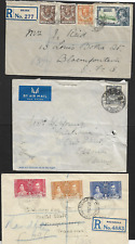 Northern Rhodesia 1942 Registered Covers sent to Orange Free State X3