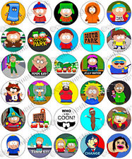 30 x South Park Party Edible Rice Wafer Paper Cupcake Toppers