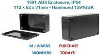 1591 ABS Enclosure, IP54, 112 x 62 x 31mm – Hammond 1591BBK