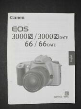 Canon Eos 3000N / 3000N Date / 66 / 66 Date Camera Instruction Manual / Guide