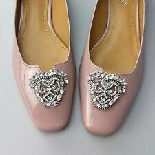 2 pc elegant Bridal Prom Repair Rhinestone Shoe Charm Clips SA77