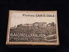 Boite de 144 Plumes St Odile Baignol et Farjon Boulogne sur Mer 800 M 7 Fermée