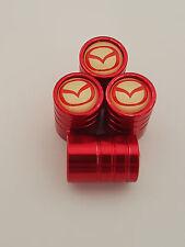 MAZDA RED DELUXE car Valve Alloy wheel dust Caps All models 5 6 MX-5 CX-5 CX-3