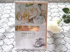 ELEGANTE Glückwunschkarte DIAMANT Hochzeit 60 Prägedruck Rosen Diamant Gold
