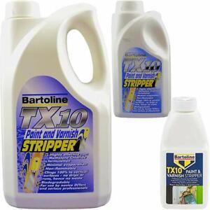 BARTOLINE TX10 ALL PURPOSE PAINT AND VARNISH REMOVER STRIPPER NON DRIP