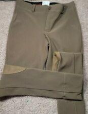 TUFF RIDER-Taupe Poly/Spdx, Youth Pull.On Equestrian Riding Jodhpurs-Girls (14)