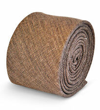 Frederick Thomas mens linen tie in coffee brown FT3116