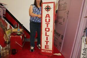 "Large Vintage Autolite Batteries Ford Mopar Chevrolet Gas Station 48"" Metal Sign"