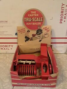 Carter Tru-Scale Hay Baler Implement Toy 1/16 scale original box 1950's