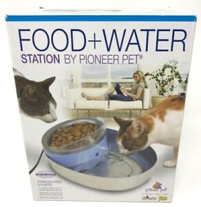 Pioneer Pet Water And Food Station Pet Dog Cat Stainless Basin Filter Clean
