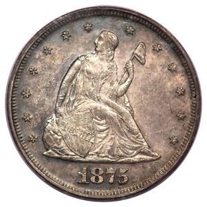 1875 20C Twenty Cent PCGS AU55