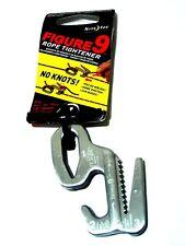 "Niteize F9L-02-09 Figure-9 Rope Tightener Silver Fits 1/8"" (3mm)-3/8"" (9mm)"