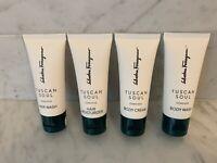 Salvatore Ferragamo 4 Tuscan Soul Convivio Body Cream, Wash, Hair Wash & Moist.