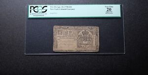 1758 Colonial New York 10 Pounds PCGS 20 - Rare note!!!