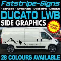 FIAT DUCATO L3 LWB GRAPHICS STICKERS STRIPES DECALS DAY VAN CAMPER MOTORHOME