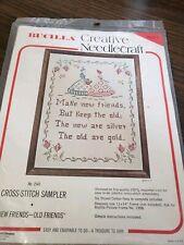 New Friends-Old Friends cross-stitch sampler